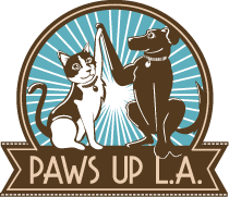 Paws Up L.A.'s logo for dog walking and pet sitting in Montecito Heights, CA